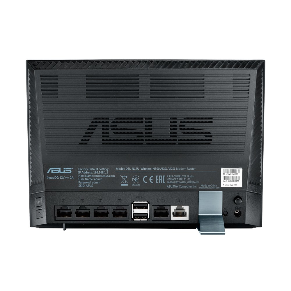 ASUS DSL-N17U Fast Ethernet Black wireless router