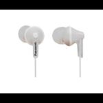 Panasonic RP-HJE125PP Dentro de oído Biauricular Alámbrico Color blanco auricular para móvil