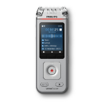 Philips Voice Tracer DVT4110/00 dictaphone Flash card Chrome, Silver