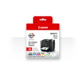 Canon PGI-2500XL C/M/Y/BK inktcartridge Original Zwart, Cyaan, Magenta, Geel Multipack