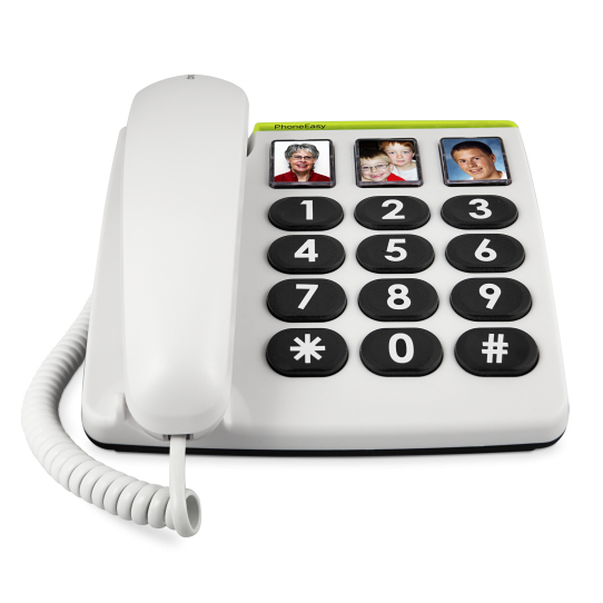 Doro PhoneEasy 331ph Analog telephone White