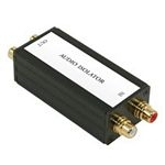 C2G Stereo Audio Isolation Transformer Black