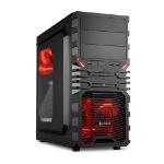 Sharkoon VG4-W Midi Tower Black,Red