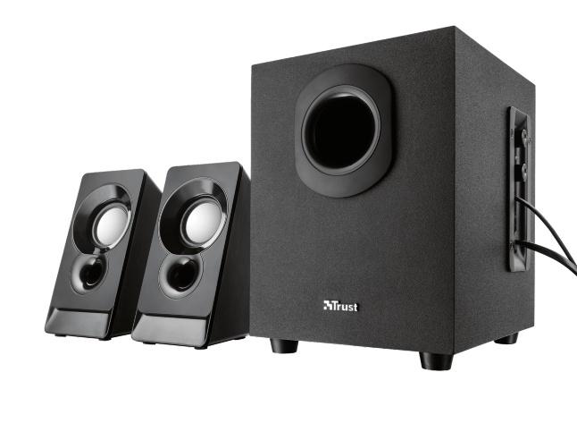 Trust Argo 2.1 2.1channels 9W Black speaker set