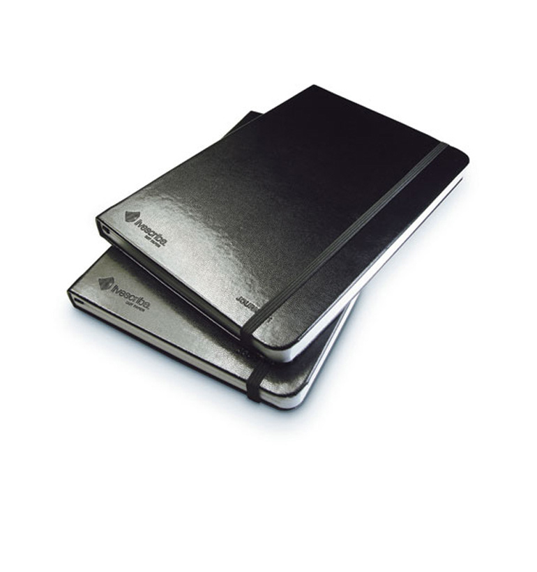 Livescribe ANA-00004 writing notebook Journals Series 1 Black Lined Journal, 2-Pack, Numbers 1 and 2