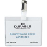 Durable 8003 identity badge/badge holder Polyvinyl chloride 25 pc(s)