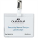 Durable 8003 Polyvinyl chloride 25pc(s) identity badge/badge holder