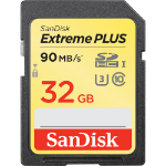 Sandisk ExtremePlus 32GB SDHC UHS-I Class 10 memory card