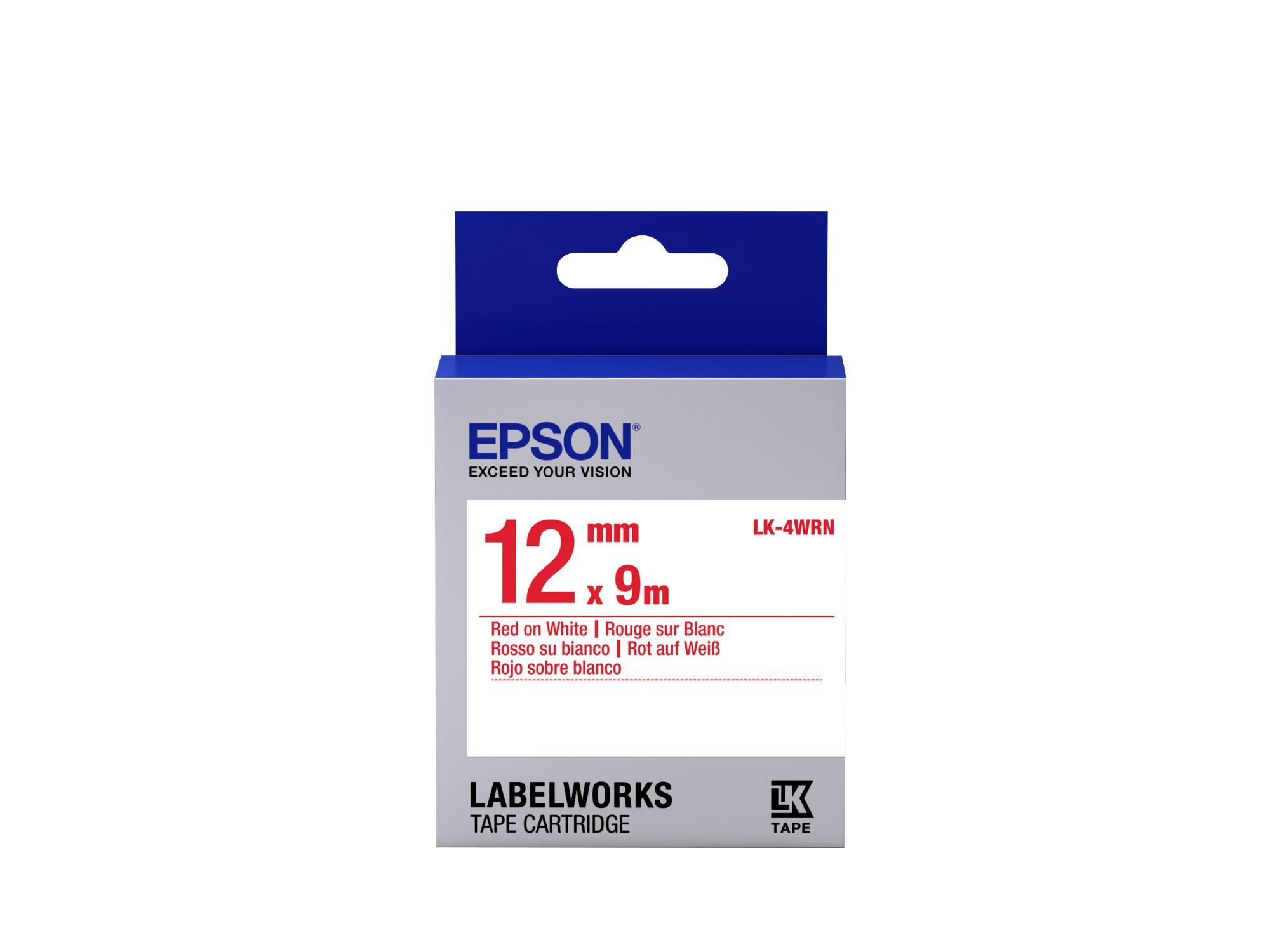 Epson Cinta estándar - LK-4WRN estándar roja/blanca 12/9