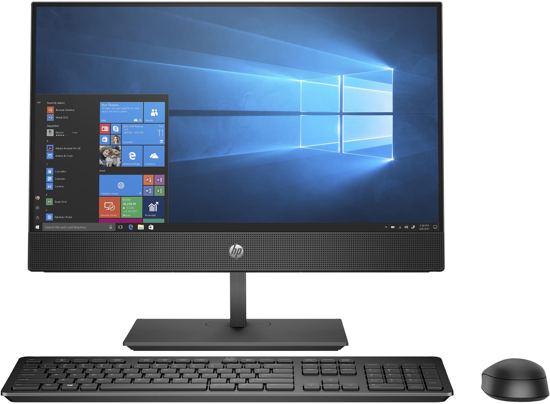 "HP ProOne 600 G4 + EliteDisplay E223 2.1GHz i5-8500T 8th gen Intel® Core™ i5 21.5"" 1920 x 1080pixels Touchscreen Black All-in-One PC"