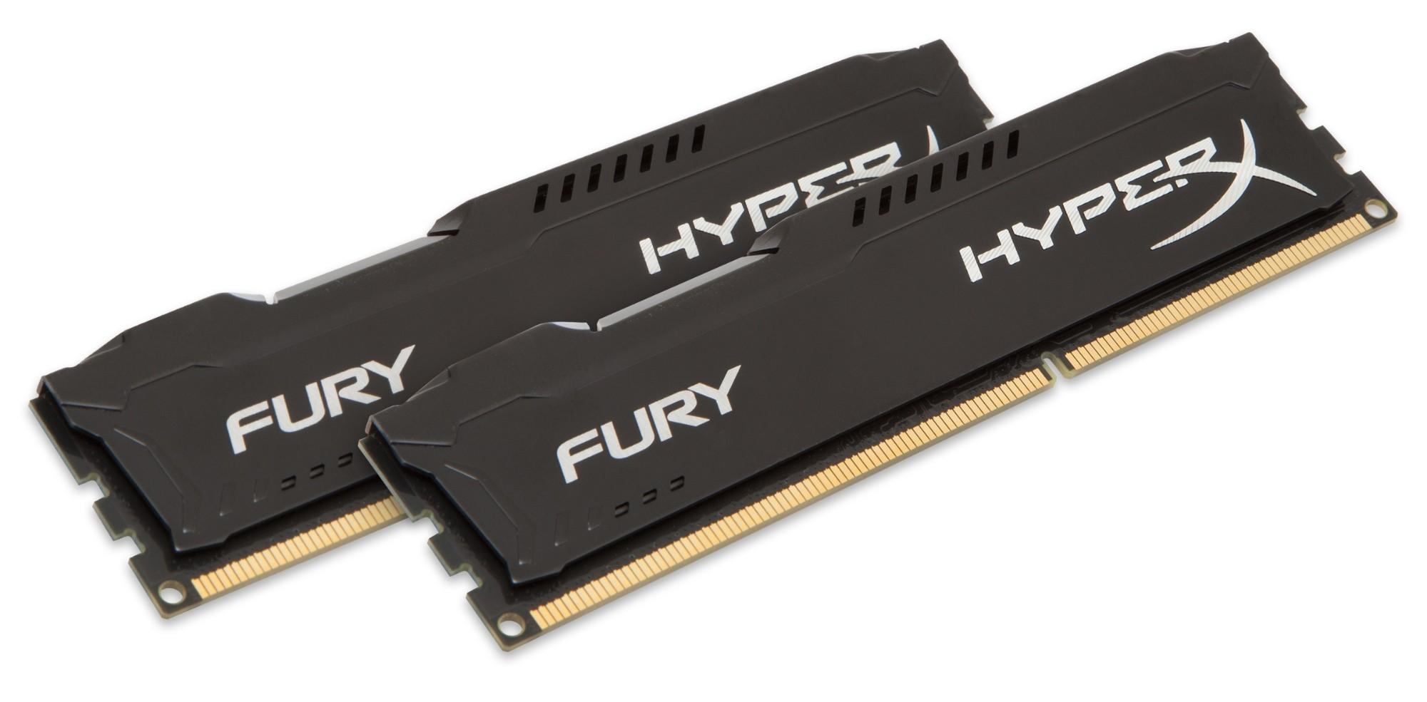 HyperX FURY Black 16GB 1866MHz DDR3 módulo de memoria 2 x 8 GB