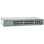 Allied Telesis AT-8100S/24POE Managed network switch L3+ Gigabit Ethernet (10/100/1000) Power over Ethernet (PoE) 1U Grey
