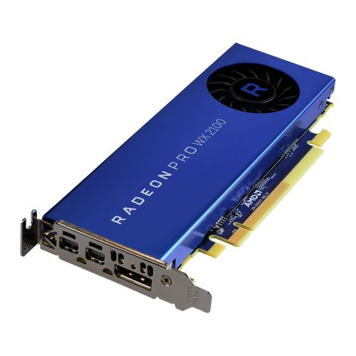 AMD Radeon Pro WX 2100 Professional Graphics Card, 2GB DDR5, DP, 2 miniDP (mDP to DVI Adapter), 1219MHz,