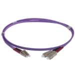 NENCO 1M FIBER OPTIC CABLE 50/125 fibre optic cable LSZH OM4 LC SC Violet