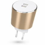 Kit USBMCALUEU3GD mobile device charger Indoor Gold, White