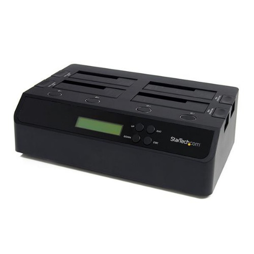 StarTech.com 4 Bay USB 3.0 eSATA to SATA Standalone 1:3 HDD Hard Drive Duplicator Dock