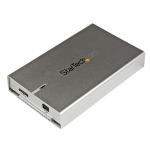 """StarTech.com Gabinete de Disco Duro SATA III de 2.5"""" USB 3.0 UASP Carcasa de Aluminio con soporte para HDD de 12.5mm"""