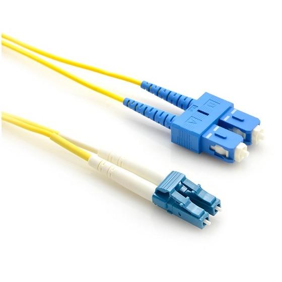 LinkBasic Single Mode OS1 LSZH Duplex SC-LC Fibre Optic Patch Cord 1 Metre