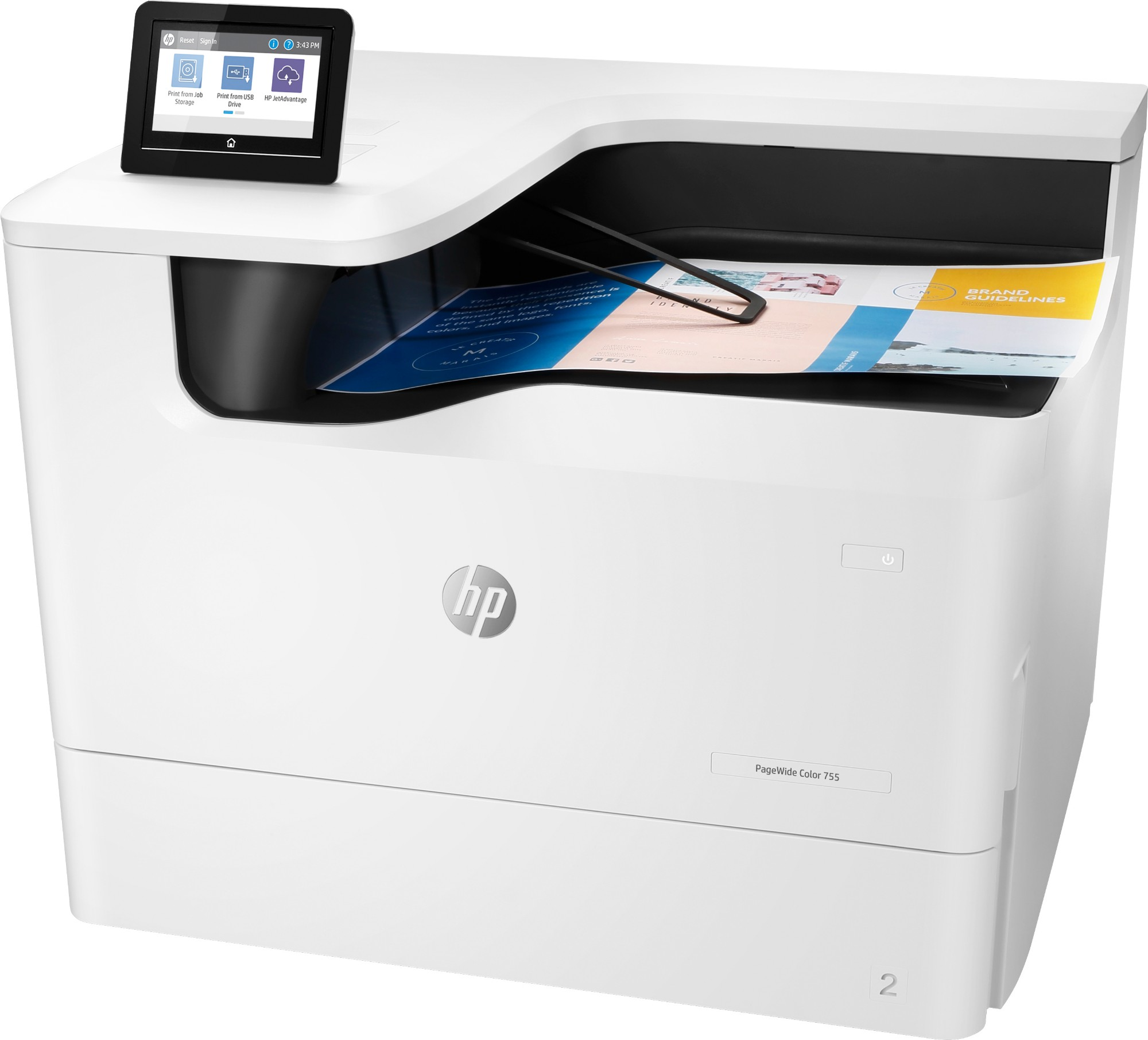 HP PageWide Color 755dn inkjet printer Colour 2400 x 1200 DPI A3 Wi-Fi 4PZ47A#B19