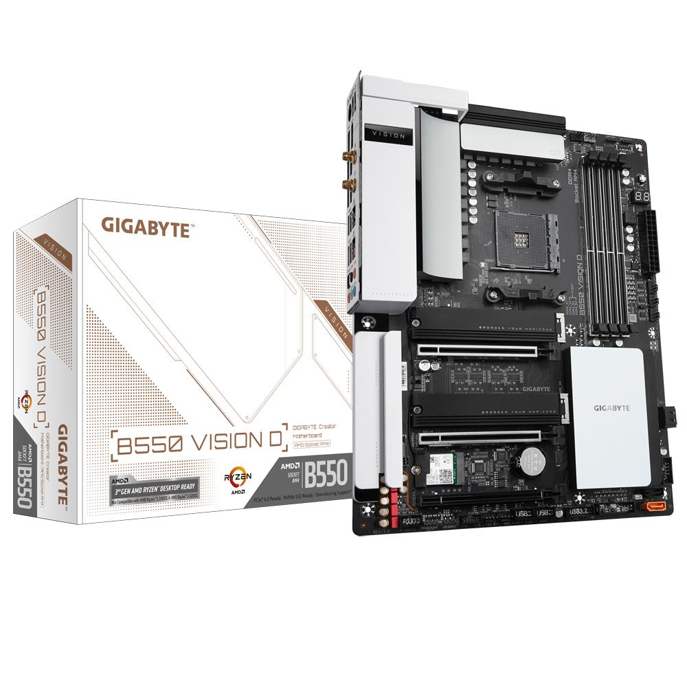 Gigabyte B550 Vision D Socket AM4 ATX AMD B550