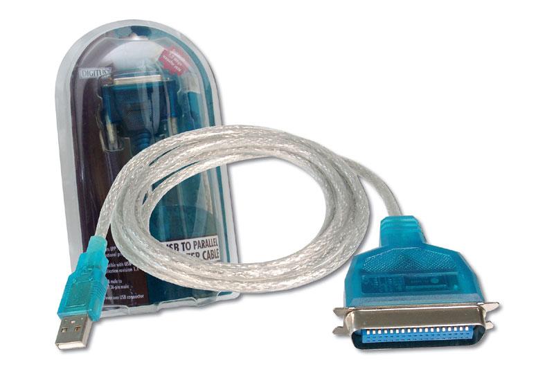 Digitus printer cable 1.8 m Blue,Transparent