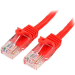 StarTech.com Cable de 1m Rojo de Red Fast Ethernet Cat5e RJ45 sin Enganche - Cable Patch Snagless
