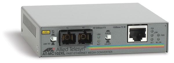 Allied Telesis 100TX to 100FX (SC) media converter 100Mbit/s 1310nm network media converter