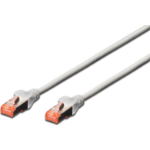 Digitus Cat6 S-FTP, 0.25m networking cable SF/UTP (S-FTP) Grey