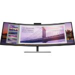 HP S430c 110,2 cm (43.4 Zoll) 3840 x 1200 Pixel WUXGA LED Schwarz, Silver
