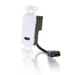 C2G 41043 cable interface/gender adapter HDMI White