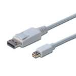 ASSMANN Electronic AK-340102-020-W cable DisplayPort 2 m Mini DisplayPort Blanco