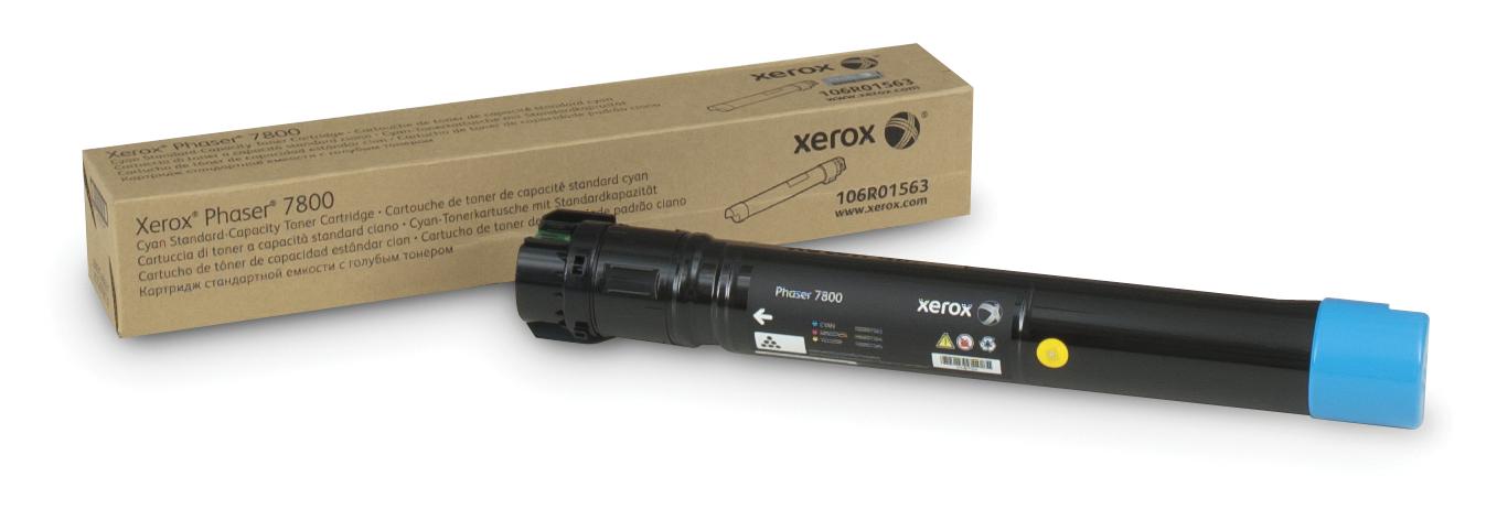 Xerox Impresora Phaser 7800, Cartucho de tóner cián de capacidad normal (6.000 páginas)