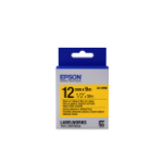 Epson Strong Adhesive Tape - LK-4YBW Strng adh Blk/Yell 12/9