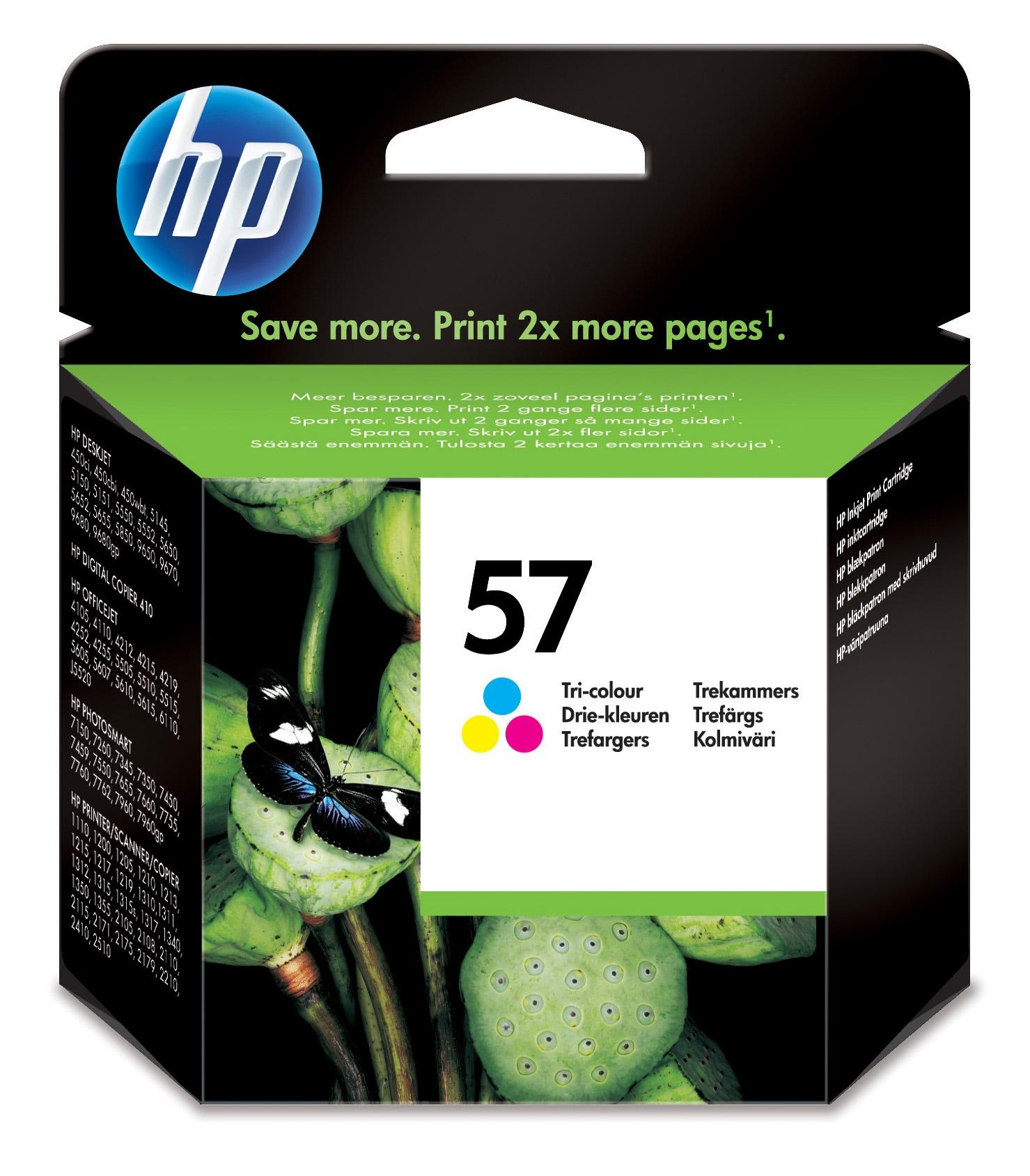 HP 57 Origineel Cyaan, Magenta, Geel 1 stuk(s)