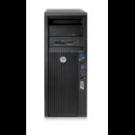 HP Z420 DDR3-SDRAM E5-1620 Mini Tower Intel® Xeon® E5 Family 16 GB 256 GB SSD Windows 7 Professional Workstation Black