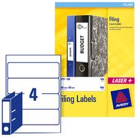 Avery L7171-25 White 100pc(s) self-adhesive label