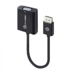 ALOGIC Elements 20cm DisplayPort to VGA Adapter - Male to Female - Black - Commercial Packaging