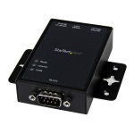 StarTech.com 1-Port Serial-to-IP Ethernet Device Server - RS232 - DIN Rail and Surface Mountable - Aluminum