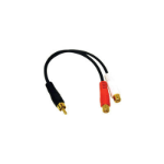 C2G Value Series RCA Plug to RCA Jack x 2 Y-Cable audio cable Black