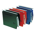 Rexel Crystalfile Extra `275` Lateral File 30mm Red (25)