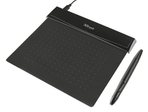 Trust 21259 140 x 100mm USB Black graphic tablet