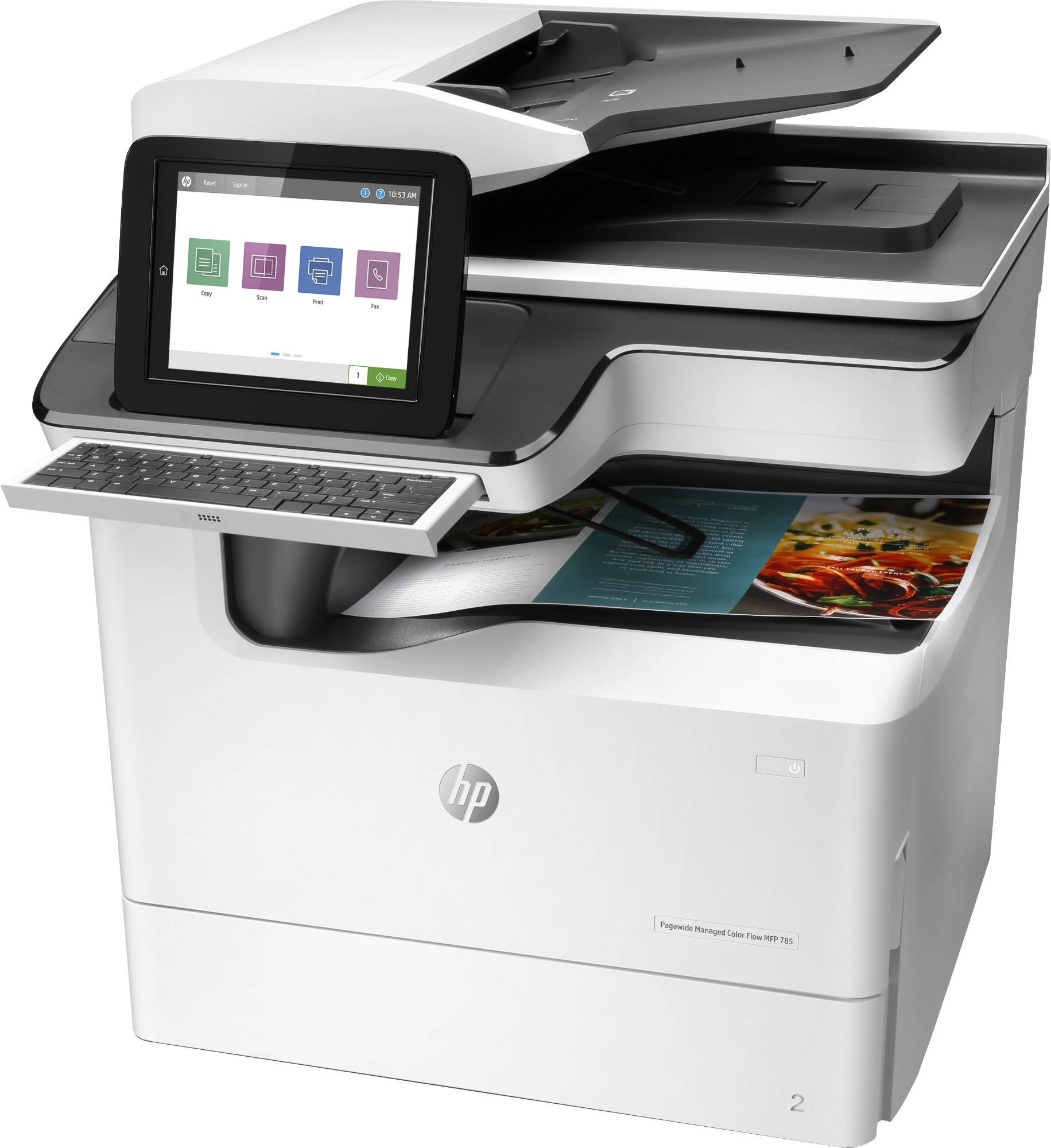 HP PageWide Enterprise Color Flow MFP 785f Inkjet 55 ppm 2400 x 1200 DPI A3