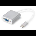 ASSMANN Electronic DA-70837 video kabel adapter 0,2 m USB C VGA (D-Sub) Zilver, Wit