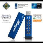 iStorage atAshur Pro USB flash drive 128 GB USB Type-A 3.2 Gen 2 (3.1 Gen 2) Blue IS-FL-DA3-256-128