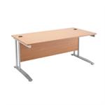 Arista Oak 1600mm Rectangular Desk KF838626