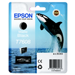 Epson C13T76084010 (T7608) Ink cartridge black matt, 1.1K pages, 26ml