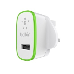 Belkin MixIt Colour Range 2.1 Amp USB AC Wall Charger UK Plug for iPhone iPad, Smartphone and Tablets