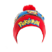 Pokémon Embroidered Pikachu with Red Pom-Pom Cuffless Beanie, One Size, Multi-Colour (KC23KUPOK)
