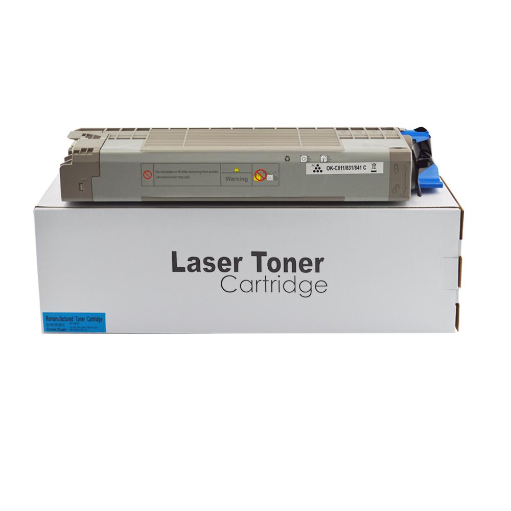 Remanufactured OKI 44844507 Cyan Toner Cartridge