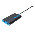 Sapphire 44005-01-20G video cable adapter 0.265 m Thunderbolt 3 2 x DisplayPort Blue, Grey